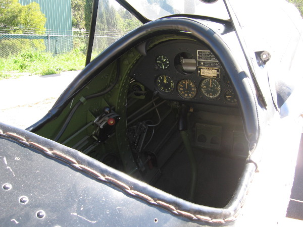 Photo of the cockpit of the Air and Space Museum's PT-22.
