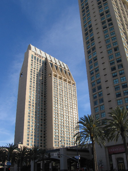 At the top of this 497 foot tower, the highest waterfront building on the West Coast, one can peer through two observation windows and enjoy phenomenal views of San Diego.