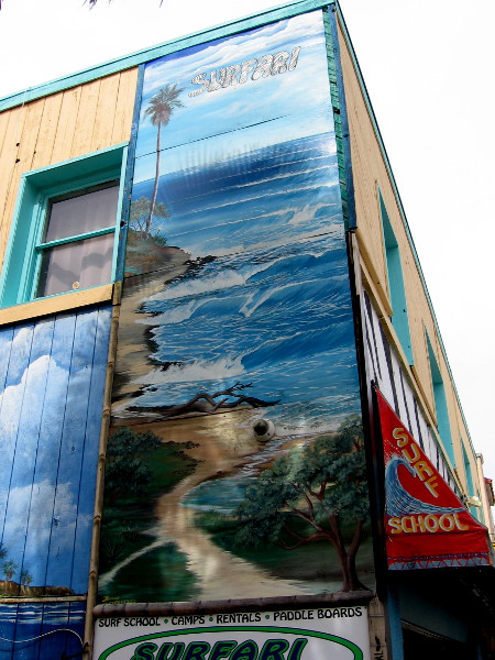 Another painted scene shows natural beauty along San Diego's coastline.