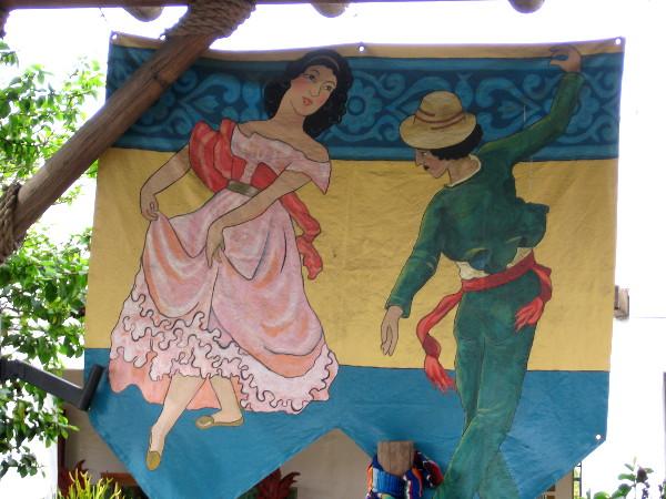 A joyful scene of traditional Mexican folk dance.