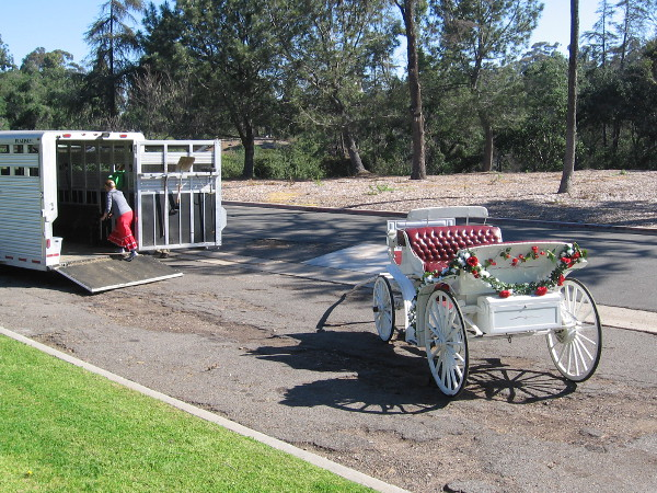 This elegant carriage would soon be watched by thousands during the big parade.
