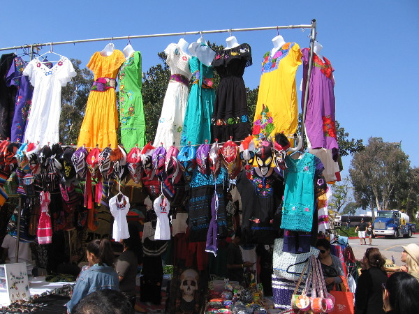 Vendors had all sorts of stuff for sale, including colorful Mexican dresses and fun lucha libre masks.