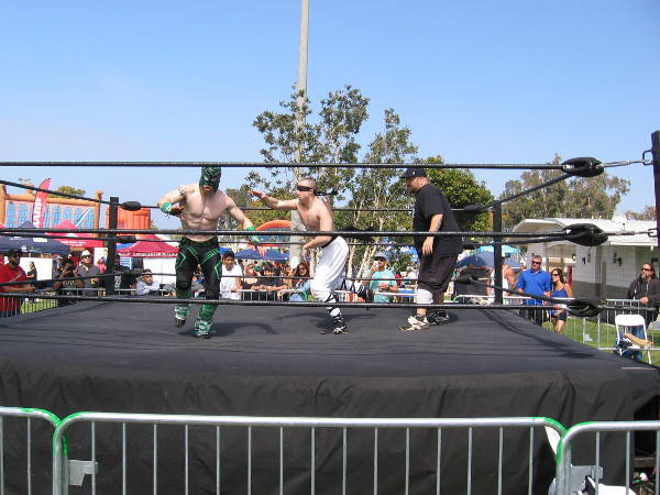 Speaking of lucha libre, there was some of that as well. (The blindfolded guy somehow won!)