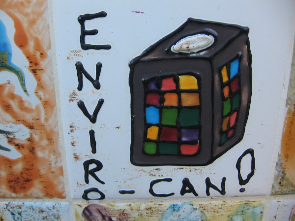 One tile on the Envirocan features the Enviro-can!