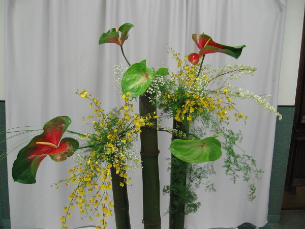Beauty designed by Keiko Schneider, President of Ikebana International 119.