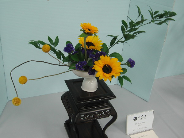 Another work of great beauty, by ikebana instructor Debbie Garofalo.