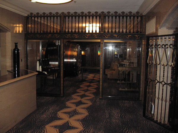 Elegant area near the entrance to The Safe Deposit Room.
