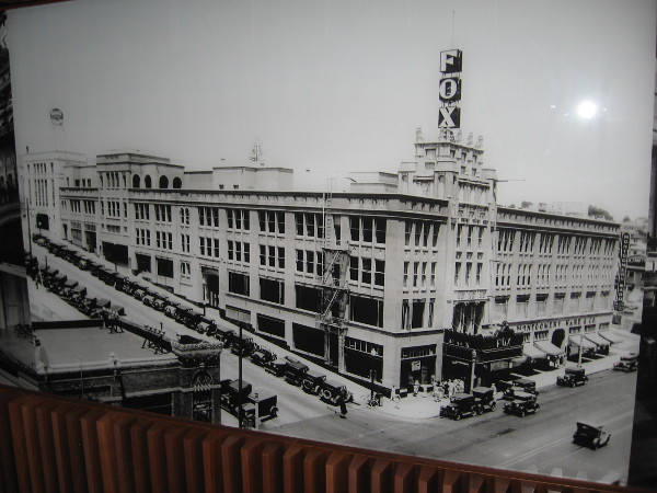 How the Fox Theatre appeared almost a century ago. A modern 34-story skyscraper, Symphony Towers, was built around it in 1989. The building's parking levels are directly above the theatre!