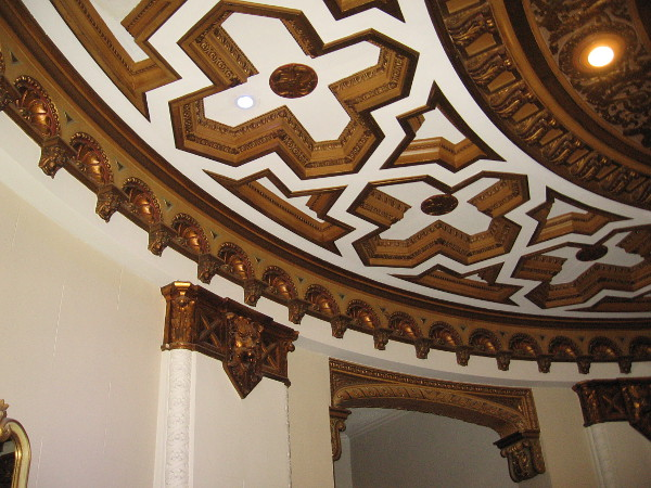 A look at one amazing corner of the dramatic ceiling.