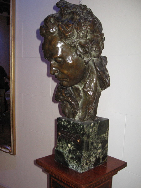 A bust at one end of the main lobby is of the beloved German composer Beethoven.