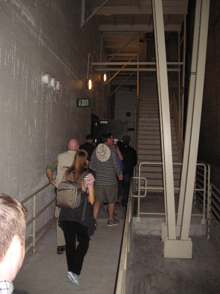 Heading toward backstage. I believe those stairs lead up to the rear stage door on Eighth Avenue.