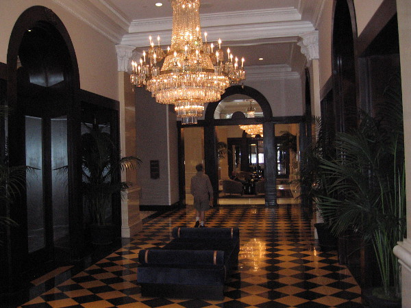 The elegant interior just inside the east entrance.