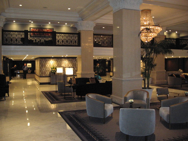 The beautiful lobby, fit for royalty.