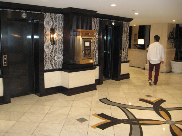 Even the hotel elevators are beautiful.