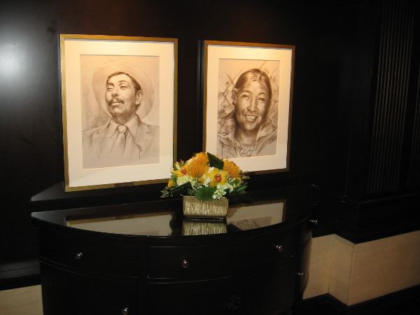 Portraits along this wall include Native Americans. The U.S. Grant Hotel was bought by the Sycuan Band of the Kumeyaay Nation in 2003. It is operated by Starwood Hotels and Resorts.