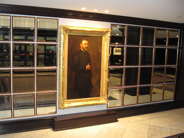 North of the elevators is this large Presidential Portrait of Ulysses S. Grant.