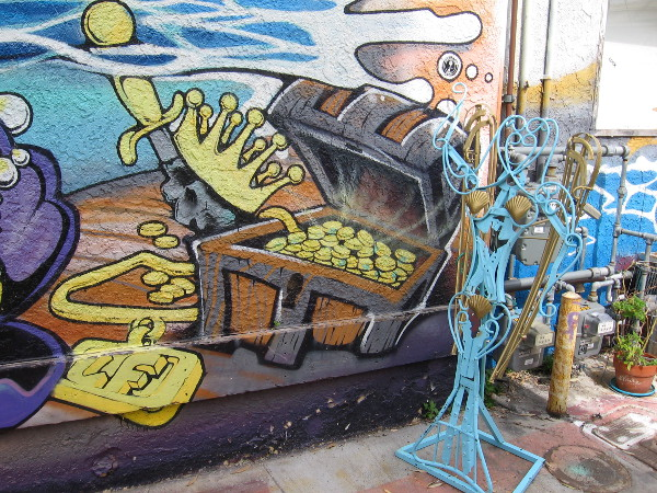 This alley is like a treasure chest full of street art gold!