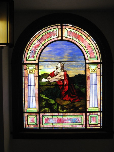Christ portrayed in one radiant window.