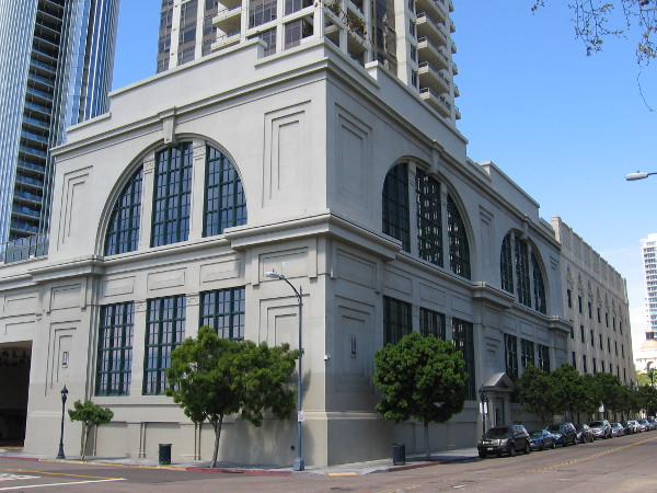Now we are at the southeast corner of the large Electra Building, which rises above the historic San Diego Gas and Electric building.