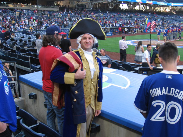 George Washington was in attendance, rooting on Team USA during the World Baseball Classic in San Diego! And his team won!