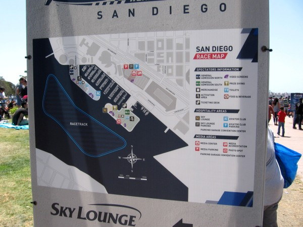 The San Diego course map for the Red Bull Air Race.