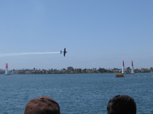 Planes make multiple passes through the difficult course.