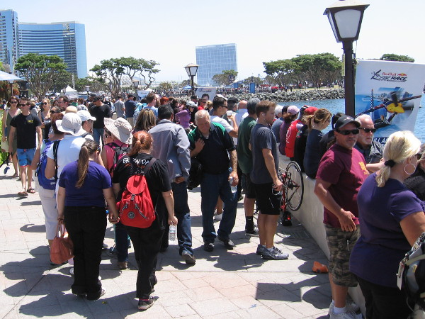 All of San Diego seems present for the big international race!