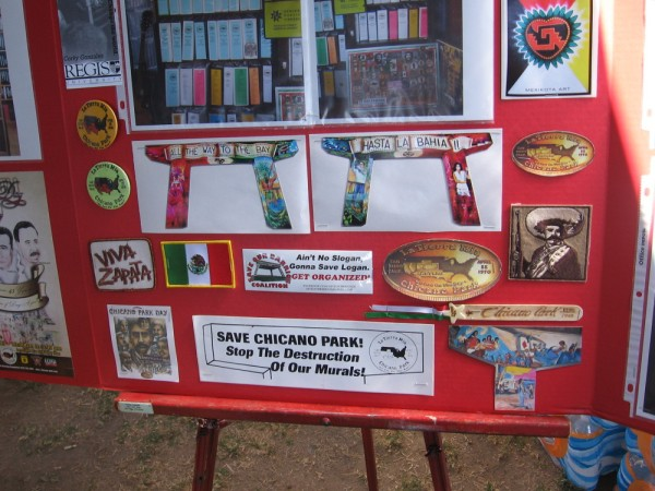 A variety of images that tell some of the history of Chicano Park.