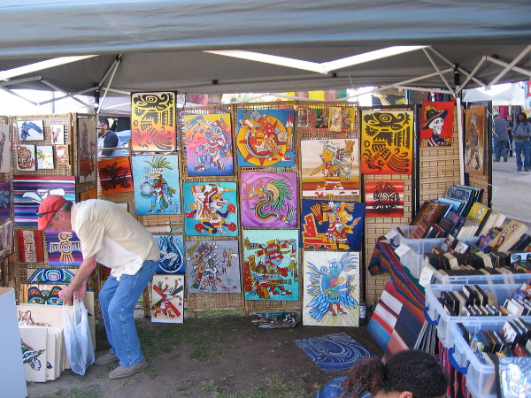 Some bold artwork on display at the festival. I spotted lots of Aztec and Dia de los Muertos designs.