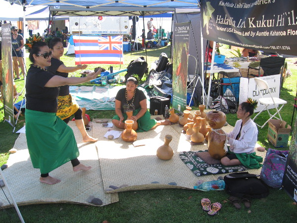 A nice lady told me a bit about Hawaiian dance. One can learn Hula at workshops provided by Halau Ka Lei Kukui Hi'ilani and Hawaiian Hula International.