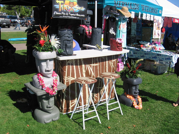 Lots of fun Hawaii-themed stuff for sale at Shaka Fest.