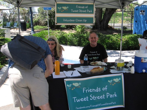 These good Friends of Tweet Street Park sign up volunteers during the Jacaranda Spring Thing on Cortez Hill.