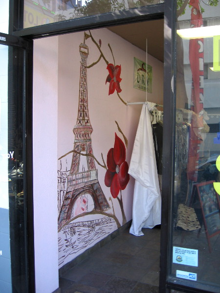 The Eiffel Tower has magically appeared inside a shop on Sixth Avenue!