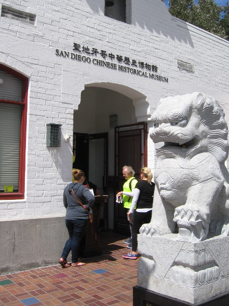 Visitors enter the San Diego Chinese Historical Museum during the San Diego Architectural Foundation's OPEN HOUSE 2017.