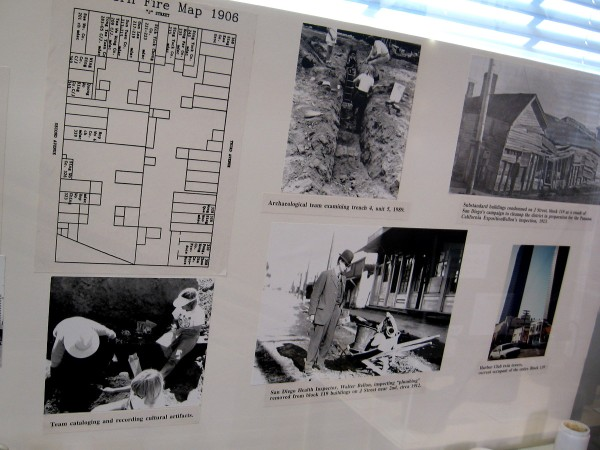 Old photos show archaeological digs in the neighborhood.