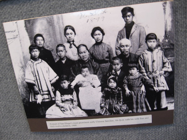 Portrait of the Ah Quin family, one of the most prominent, influential early San Diego Chinese families.