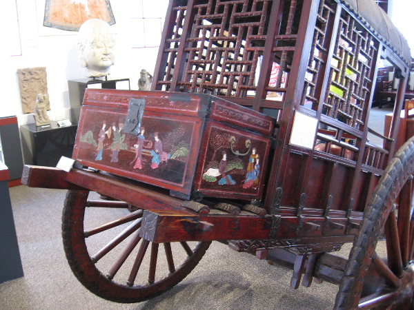 A bridal carriage from the late 1800s made of rosewood, found in Yun Cheng.