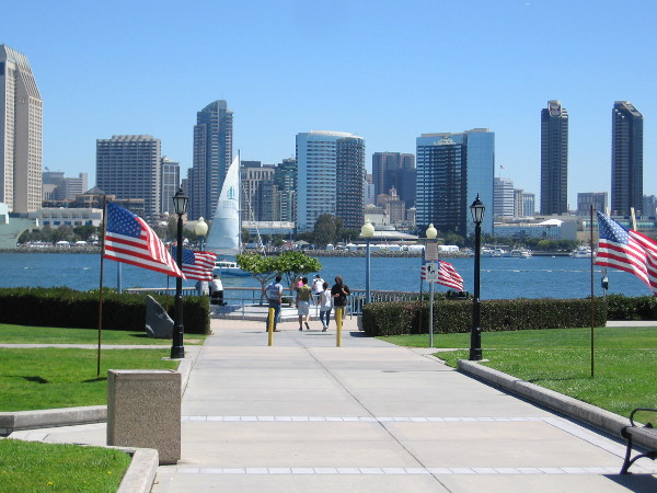 Looking across San Diego Bay toward downtown from Coronado's beautiful Centennial Park.