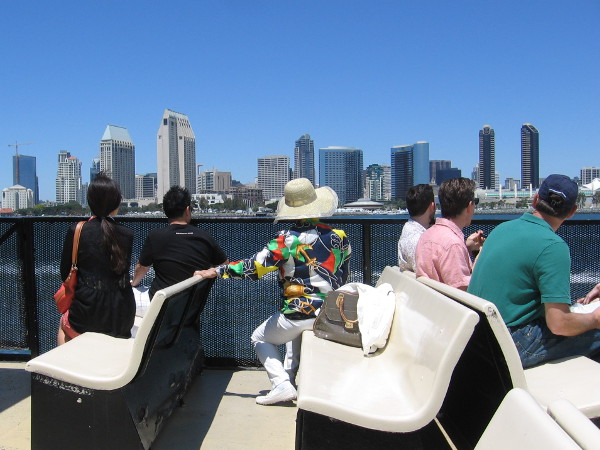 Tourists take the Coronado ferry across the bay to downtown San Diego. What will they see?