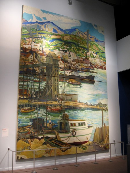 Charles Reiffel, San Diego Harbor, 1936. Oil on canvas. WPA mural inside the San Diego History Center that was originally commissioned for San Diego High School.