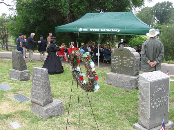 San Diegans gather for a dignified Memorial Day ceremony on GAR Hill at Mount Hope Cemetery.