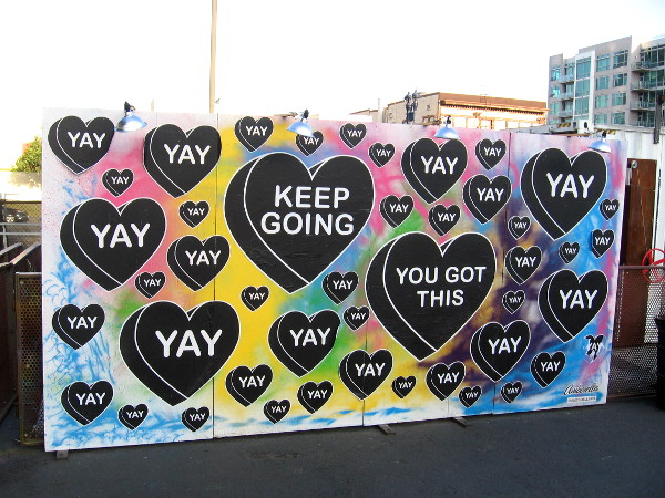 Keep going! You got this! Yay!