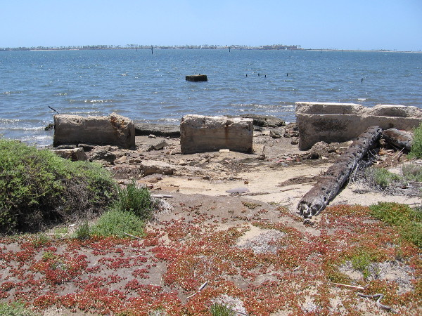 Some mysterious (to me) concrete ruins on Gunpowder Point.