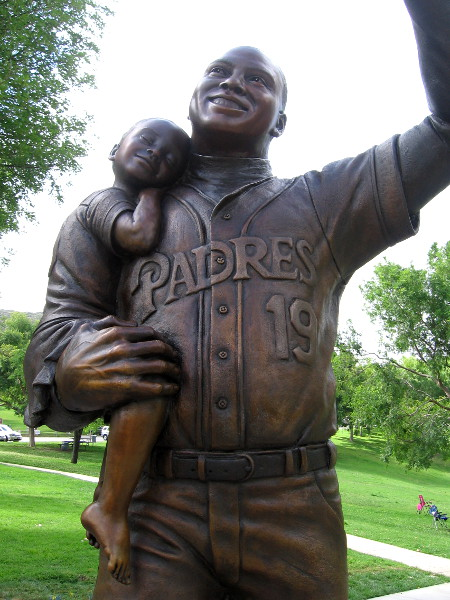 Statue of Tony Gwynn in a beautiful park, where his children played.