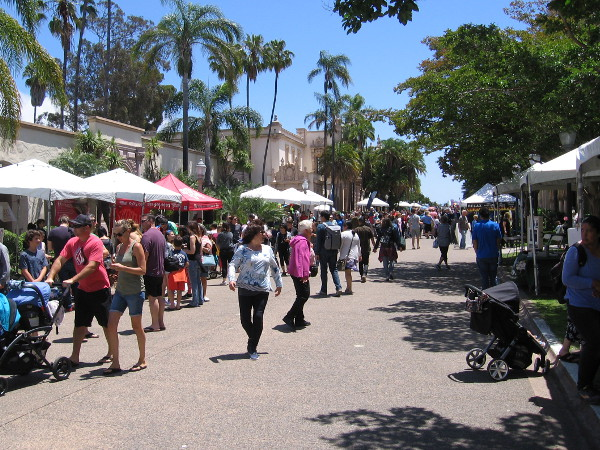 As the annual event got underway, a large crowd gathered on El Prado to enjoy gardening displays and San Diego sunshine.