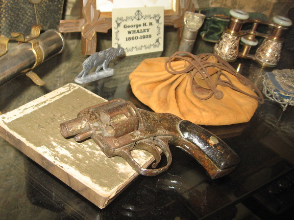 More historical objects that belonged to the Whaley family, including a small snubnosed revolver.