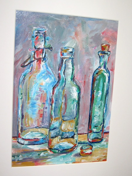 Catherine Zhao, Message in a Bottle, painting, Twelfth Grade, Westview High School.