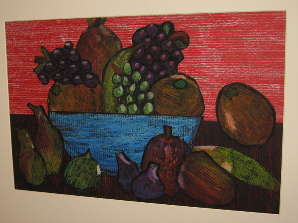 The Great Fruit Bowl, a drawing by many Christ Church Day School Second Grade student artists.