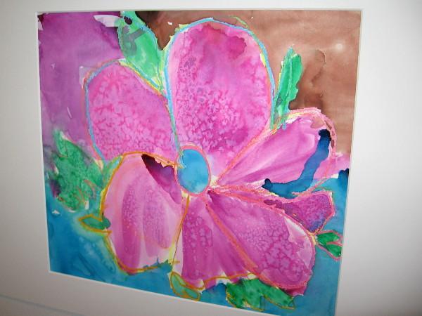 Skylar Britt, O'Keeffe Flower, mixed media, Kindergarten, Kumeyaay Elementary.