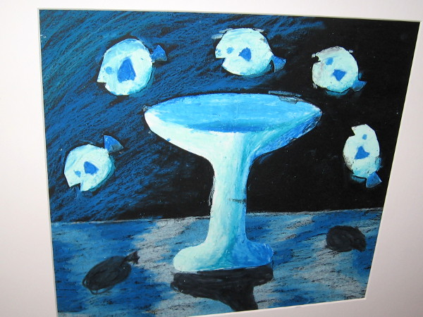 Jenna Vo, Magritte Floating Still Life, mixed media, Fourth Grade, Kumeyaay Elementary.